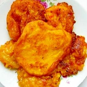 カボチャの揚げ餅
