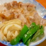 豚バラ塩焼き&野菜ソテー