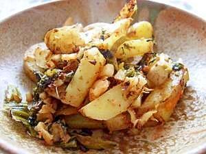ジャガイモと高菜のピリ辛キムチ炒め