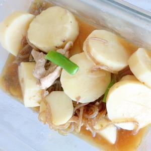 長芋と糸こんにゃく、インゲンの煮物
