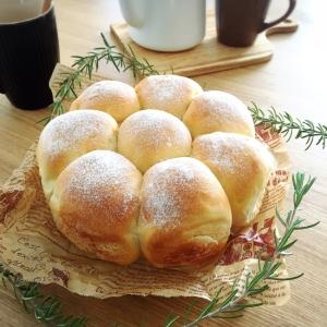 ラウンド型で手捏ねのちぎりパン