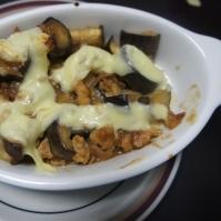 なすと挽肉の味噌チーズ焼き