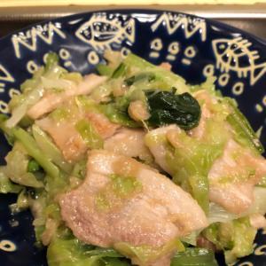 キャベツたっぷり♪豚肉と小松菜のトロトロ焼き^_^