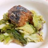 白菜とサバ缶の味噌煮