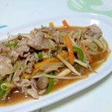 醤油ベースの肉野菜炒め++