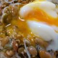 簡単朝食♡しらす☆卵☆めかぶ納豆