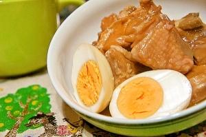 圧力鍋にお任せde子供に人気の鶏のお酢煮と味付玉子