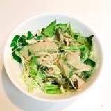 シャッキシャキ☆空芯菜とキャベツとツナのサラダ
