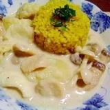 ココナッツ風味★キノコ&シーフードのホワイトカレー