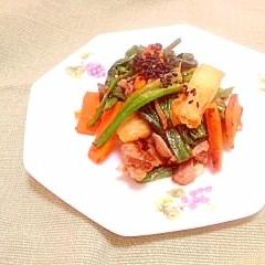 ふっくら豚小間肉と野菜炒め