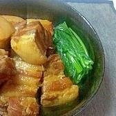 豚角煮の味噌風味