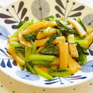 小松菜とじゃが芋のバターポン酢炒め♪