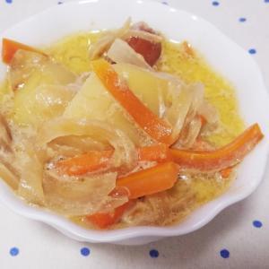 ウインナーと野菜のミルクスープ