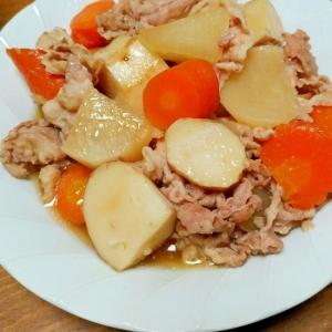 豚バラ肉と大根&その他の炒め煮