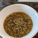 鍋不要のワカメ中華スープ