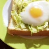 簡単!巣ごもり卵のハムトースト