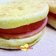 朝食に☆ハムチーズマフィン