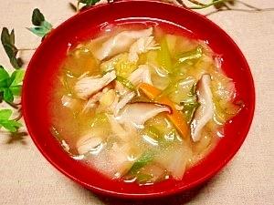 毎日のお味噌汁132杯目*野菜たっぷり、鶏ササミ