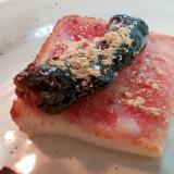 苺ジャムと黒糖かりんとうのミニトースト