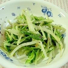 水菜ともやしのゆかりサラダ