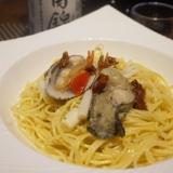 【兵庫食材】牡蠣とすだれ貝のスープパスタ