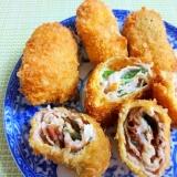 豚肉の梅チーズ巻きフライ