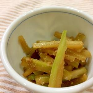 コリコリ食感♪ブロッコリーの茎のキンピラ