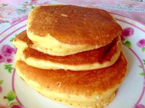 冷めてもフワフワ〜♡大豆粉でヘルシーパンケーキ