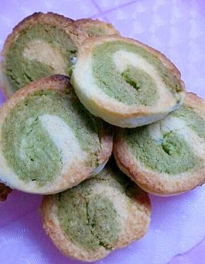 トースターで★緑と白のぐるぐるクッキー