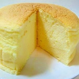 経済的!スライスチーズでふわふわ★スフレチーズ