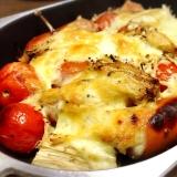 トマトとウインナーの☆チーズグリル