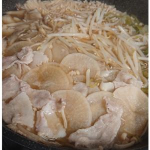 豚バラ薄切り大根鍋