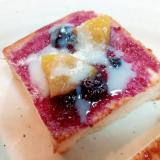 ブルーベリージャムと黄桃のミニパン
