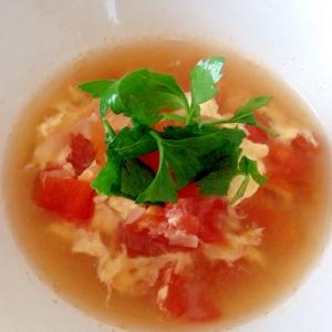 トマトと玉子の優しいスープ☆