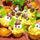 市販のカップケーキで☆ハロウィンケーキ
