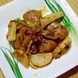 鳥レバーと長芋のカツオ風味炒め