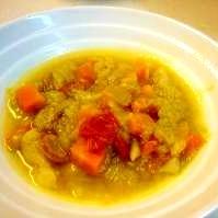 圧力なべで野菜たっぷりスープ☆