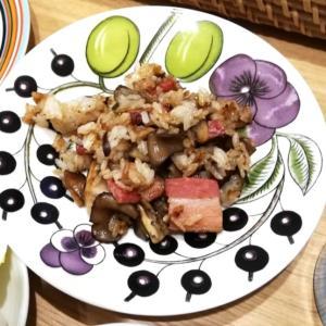 ベーコン&キノコ炒飯(バターと醤油炒め)