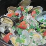 鍋ひとつで簡単!鯛のアクアパッツァ