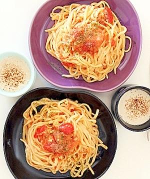簡単超おいしい【トマトとゴルゴンゾーラのパスタ】