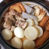 圧力鍋で♪トロトロ豚バラと大根卵7種おでん♡