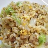 レタスと鯖味噌のチャーハン(^^)