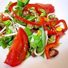 クイック!黒豆と野菜たっぷりサラダ
