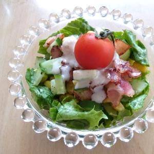 コーンときゅうりのヨーグルトドレッシングサラダ