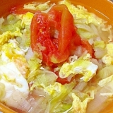 トマトと白菜の塩ラーメン