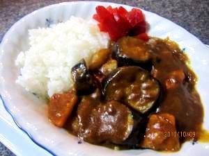 茄子カレー (我が家の味)