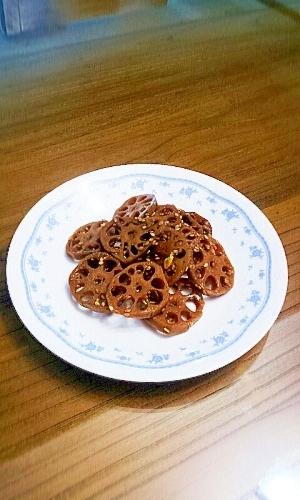 韓国家庭料理☆レンコンの甘辛煮