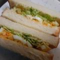 ボリューム満点☆卵とキャベツのサンドイッチ