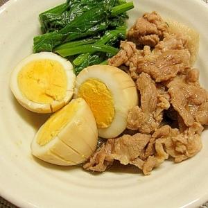 豚肉とゆで卵の煮物