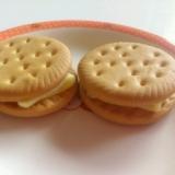 メープルチーズサンドビスケット☆